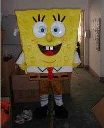 Wholesale High quality adult size Sponge Bob Cartoon Mascot Costume from Sponge Bob Anime Character Antimated Doll Garment Charming Walking Dress