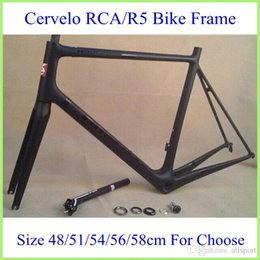 Wholesale Cer velo RCA Carbon Bike Frame Full Carbon Bicycle Parts UD Finish With BB Right Top Level Bike Frame Black Different Size For Sale