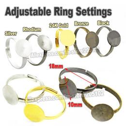 Wholesale mm metal dedo de la porción ajustable configuración de anillo de oro de rodio plata de bronce de resultados de la joyería DIY Piezas Accesorios