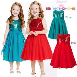 Wholesale 2015 NEW Rose flower girls dress skirt Sequin gauze kids dress Classic children clothing B001
