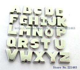 Wholesale - Free Shipping 130pcs Plain floating letters Floating Charms DIY Charms fit for Floating Charms Locket FC305
