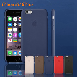 Acheter en ligne Protection téléphone cellulaire-Officiel en TPU en cuir pour iPhone 6 4.7inch 6+ plus 5.5quot; Colorful protection Cas de téléphone cellulaire 1: 1 iPhone6 original avec emballage détail