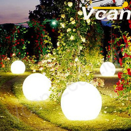 30cm 4PCS outdoor rgb wireless waterproof led garden ball light with 16 colors change remote control