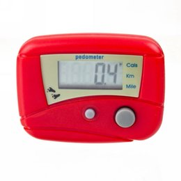 Wholesale Running necessary electronic pedometer LCD pedometer single function pedometer step counter timer counter