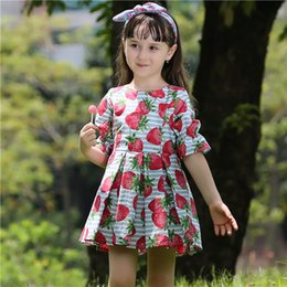 Pettigirl New Summer Woven Baby Girls Dress With Fruit Pattern Children Fashion Dress For Kids Clothing GD80626-6