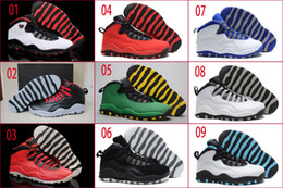Wholesale Cream Colour Boots - 14 Colours (With Box)Wholesale Retro 10 X Oregon Ducks Bulls Over Broadway GS Fusion Red Powder Blue Men Basketball Sport Shoes