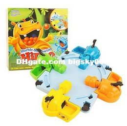 Wholesale Free DHL100 Piece Hungry Hippo Table Games Marble Swallowing Hippo Fun Parent Child Interaction Educational Toys for Children Kids