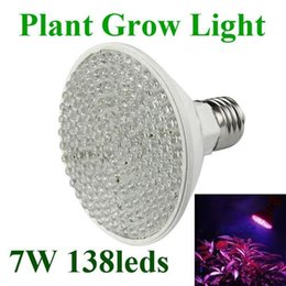 Promotion led grow bleu ampoule E27 LED Grow Lampe rouge et bleu Source de lumière 4.5W 80leds 7W 138leds végétaux de culture hydroponique Ampoule LED Spotlight 85-265V Greenhouse éclairage
