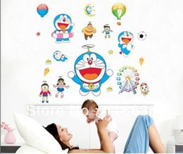 Wholesale Large Decorative Bells - Free Shipping wholesale decorative Doraemon tinker bell cartoon Wall Stickers Decal for kids  children room nursery DIY sticker