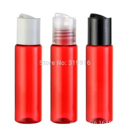 Wholesale 30ml red small round empty cosmetic plastic bottles oz sample shower gel PET container for cosmetics CC oil bottles pc