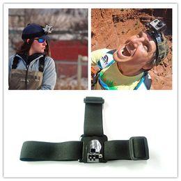 Wholesale Essential Adjustable Elastic Head Belt Strap Mount for Gopro Hero Surfing Skiing Skateboarding Riding Bicycle Jump