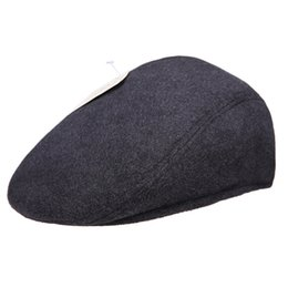 Wholesale Upscale middle aged men s cap hat autumn and winter days warm wool hat father Nick elderly cap bulk Wai