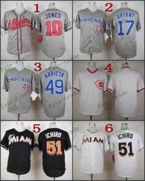 Wholesale Atlanta Braves Chipper Jones kris bryant Baseball Jersey Cheap Rugby Jerseys Authentic Stitched Size