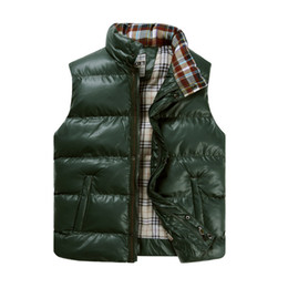 Fall-Good Quality! Fashion Autumn Winter Gilet Men Padded Vest Bodywarmer Puffer Vest Coat Mens Body Warmer 3XL XXXL Green Black Blue