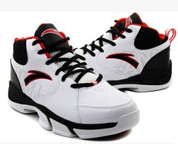 Wholesale ANTA new men wear non slip shoes sneakers leather high top basketball shoes running shoes casual shoes