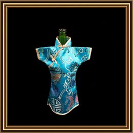 Wholesale Wine Bottle Bags Brocade Clothing Antique Chinese National style Table Dinner Gift Bottle Bag For Sale