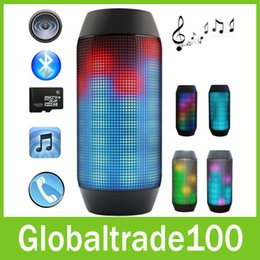 Wholesale PULSE Wireless Bluetooth Speaker with LED Lights Mini Portable Speakers Support NFC U disck TF Card Colorful High quality