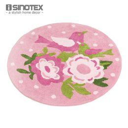 Wholesale Shabby Chic Floor Rug Carpet For Kids Room Cotton Handmade Anti slip Doormat cm Diameter Round Non slip tapete