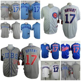 Wholesale Chicago Cubs Kris Bryant Cheap Wholesales Throwback Baseball Jerseys Embroidery Name and Logo Rugby Jerseys