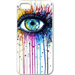 Wholesale Colorful Shine Eye Hard Plastic Mobile Phone Case Cover For iPhone 4 4S 5 5S 5C 6 6 Plus