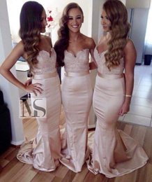 2020 Elegant Sweetheart Lace Bridesmaid Dresses Topped Mermaid Bridal Gowns Cheap Plus Size Dresses For Wedding Evening Prom Gowns