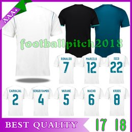 2018 player version Home white Real Madrid Soccer Jersey 17 18 CR7 soccer shirt Ronaldo Bale Football uniforms Asensio SERGIO RAMOS sales