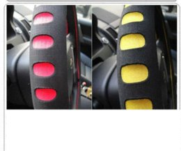 Wholesale sports punching EVA automotive steering wheel covers economic character to set auto supplies to set M12624