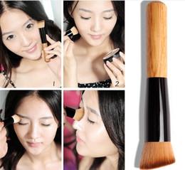 Wholesale 500pcs Hot Professional Makeup Make up Brushes Advanced Nylon Wool Ash Brush Handle Oblique Head Blush Free DHL