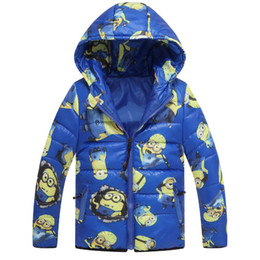 Minion Jacket Despicable Me Boys Girls Winter Coat Baby Minion Clothes Winter Down Coat Warm Baby Snowsuit Children Hooded Coat