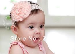 baby Headbands hairband headwear flowers elastic white chiffon headband