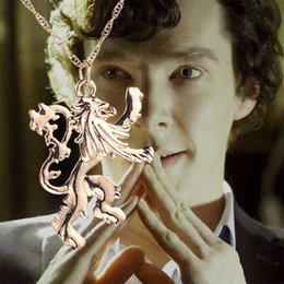 Wholesale freeshipping The new Sherlock b apartment fire and ice dragon necklace fashion pendant necklace
