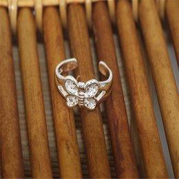 Wholesale 925 silver flower mix design toe rings open mouth silver toe rings