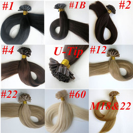 100g 100Strands Pre bonded nail u tip Human hair extensions 18 20 22 24inch Straight Brazilian Indian hair extension