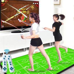 Almohadilla doble del cojín de la estera del baile Equipo de la aptitud Danza del juego de la estera yoga de la manta para el cojín TV de la PC de la TV, regulador alejado sin hilos 2pcs desde estera de baile juego de pc fabricantes