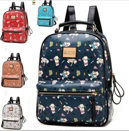Cute Little Bears Women Backpack Bags Printed Students Shoulder School Bags