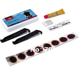 Wholesale-Free shipping 30sets lot bicycle bike cycling tyre tire repair kit, rubber tyre patch