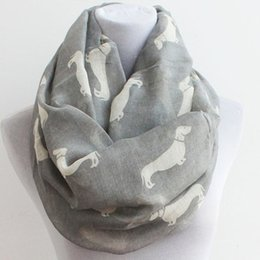 2016 spring Slim Puppy Scarf Printed Voile Animal Infinity Scarves Circle scarf Loop Scarf Ring Collar