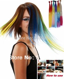 Wholesale 100Pcs inch cm Grizzly Snythetic Loop Feather Hair Extension Extensions colors Hairpieces
