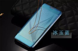 Wholesale Luxury Clear View Mirror Leather Phone Cases for Samsung Galaxy S7 Edge
