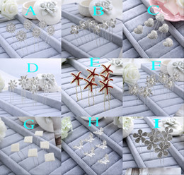 Wholesale High Quality U Bridal Hairpin pieces Pearl Crystals Rhinestones Butterfly Starfish Flower Sweetheart Floral Hair Accessories