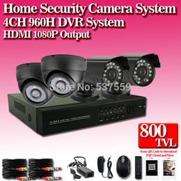 Free shipping DHL FEDEX China post,4CH Video Surveillance DVR 4pcs 800TVL 24 IR led Weatherproof Security Camera CCTV System