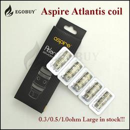 2016 aspire atlantis méga Authentique Aspire atlantis bobine subohm .3ohm .5ohm 1.0ohm BVC bobines de atlantis2 têtes pour / v2 méga réservoirs de pulvérisateur aspire atlantis aspire atlantis méga sortie