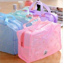 Wholesale 700 BBA5576 washing Makeup Cosmetic Bags Transparent Waterproof PVC Bag Floral Print bag Toilet Bathing Pouch Travel Storage bag organizer