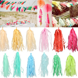 Design Tissue Paper Tassels for Party Wedding Gold Garland Bunting Pom