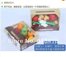 Wholesale-Free Shipping!New Arrived Janod Wooden Toy Fruit and Vegetable Simulation Toy Baby Play House Toy Wooden Educational Toy Gift