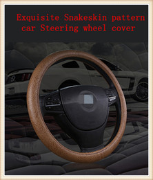 Exquisite Snakeskin pattern Universal automobiles Steering wheel cover suitable for 38cm car styling