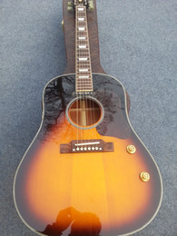 2014 New China Guitar factory Best High Quality Newest Sunburst Classic J160 Acoustic Guitar OEM Free Shipping