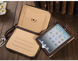 Wholesale ipper Bag Business Leather Case Multi function Stand Wallet Bag Smart Cover With Card Slots For Apple iPad Air Air2