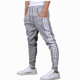 Wholesale-Mens Joggers New Fashion:Casual Harem Sweatpants Sport Pants Trousers Sarouel Men Tracksuit Bottoms For Track Training Jogging