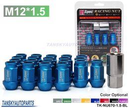 Wholesale Tansky For HONDA ACURA CIVIC INTEGRA JDM D1Spec BLUE Racing Wheel Lug Nuts M12 X1 MM With Lock TK NU670 BL